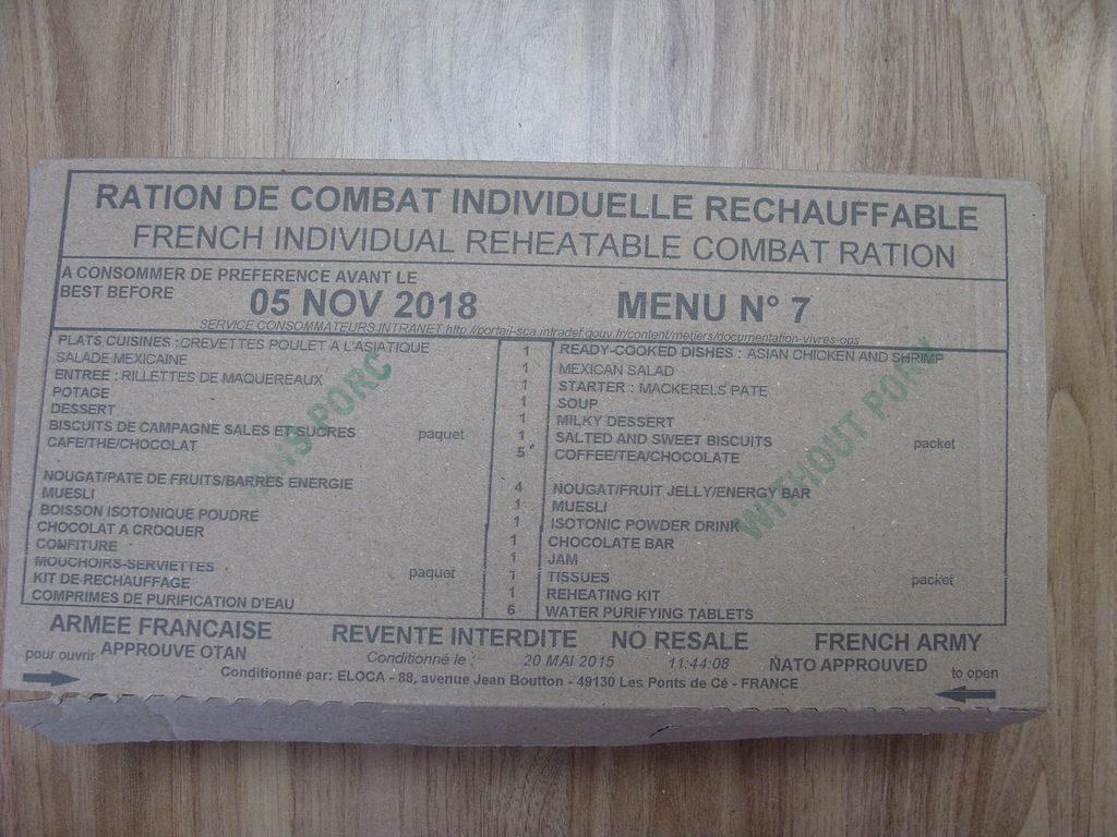 Racja armii francuskiej 24 H - menu 7
